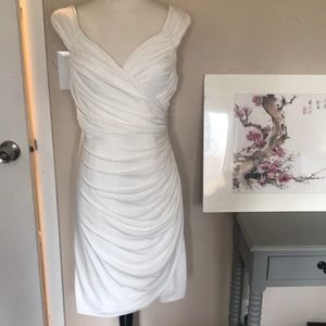 Sexy ruched white dress like new 🌵🍄💐